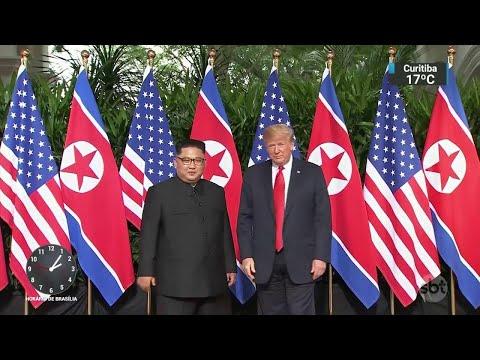 Expectativa é alta para acordo entre Estados Unidos e Coreia do Norte | SBT Notícias (12/06/18)
