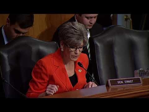 Senator Ernst Questions Environmental Protection Agency Nominees
