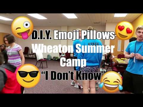 DIY Emoji Pillows   How To Handle Anger   Summer Camp 2018