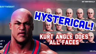 Kurt Angles Does All Faces In WWE 2K18