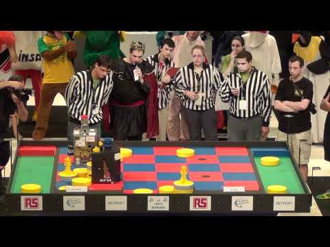 2011 - OMYBOT vs RCVA - Coupe de France de robotique 2011 - Demi finale