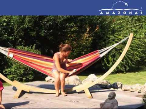 Soporte para Hamacas APOLO (Madera) + Hamaca LAMBADA Tropical