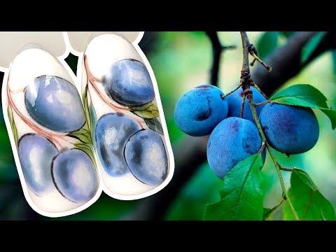 Маникюр летний синий
