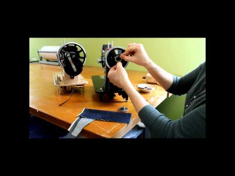 Atlas Pink Sewing Machine Hand Crank Conversion.wmv