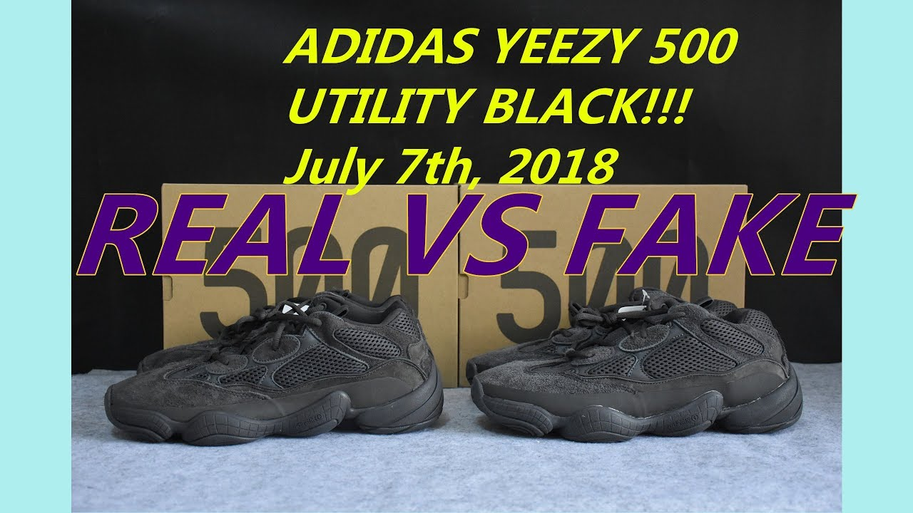 38cef6623 REAL VS FAKE YEEZY 500 Utility Black - YouTube