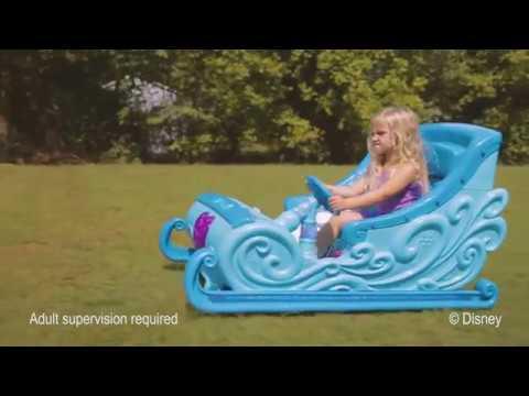 Disney Frozen 12 Volt Ride On Sleigh Video From Walmart