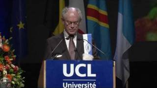 Awarded Dr Honoris Causa at UCL - Speech