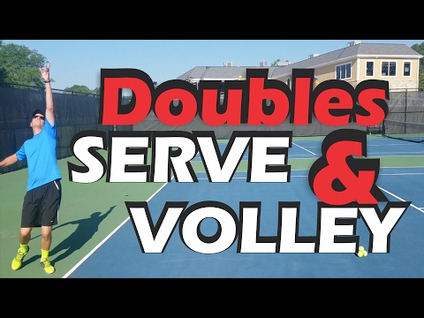 Doubles Serve and Volley - How far Should you get in for the First volley?