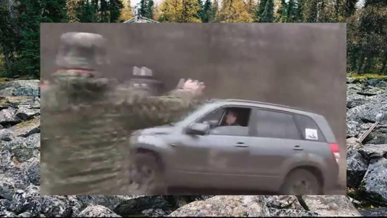 #162. Suzuki Grand Vitara преодолевает подъем в заносе