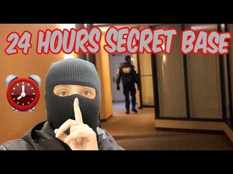 (ARRESTED!) 24 HOUR OVERNIGHT SNEAKING INTO GUARDED BASE ⏰ | INTENSE SECURITY CHASE (GOT CAUGHT!)