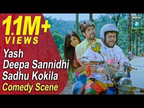 Jaanu Kannada Movie Comedy Scenes 3 | Yash, Sadhu Kokila, Deepa