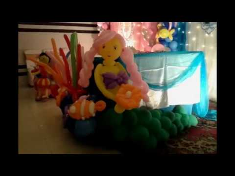 The Little Mermaid And Ballerina Thematic Birthday Party
