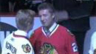 Blackhawks Honor Bobby Hull & Stan Mikita  3/7/2008  Part 1