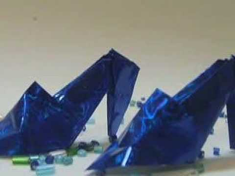 origami zapatos de tacon