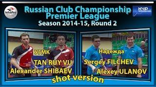 SHIBAEV, TAN RUY VU - ULANOV, FILCHEV shot version Russian Club Championships