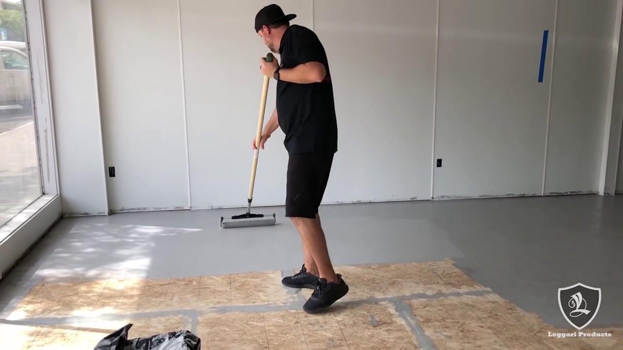 Paint Chip Floor Over Wood Subfloor