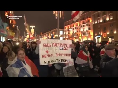 Protest In Belarus Against Closer Ties To Russia