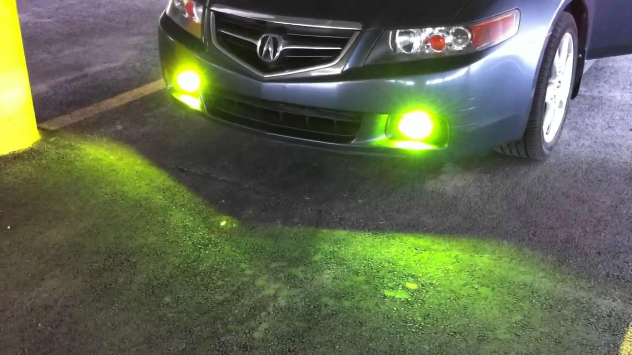 Ddm Tuning 3k Fog Lights Warmup On 2005 Acura Tsx Youtube