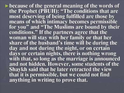 Misyar Marriage - Definition & Rulings