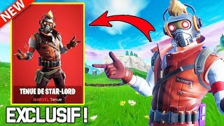 THE EXCLUSIVE SKIN MARVEL ''STAR-LORD'' IS FINALLY DISPONIBLE ON FORTNITE!