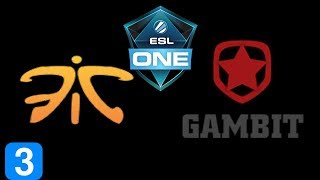 Fnatic vs Gambit Esports Game 3 ESL One Katowice 2019 Highlights Dota 2