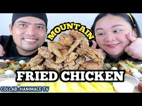 MOUNTAIN OF CRISPY FRIED CHICKEN + CHOPSEUY | FILIPINO FOOD MUKBANG | MUKBANGPH COLLAB @HANIMACE TV