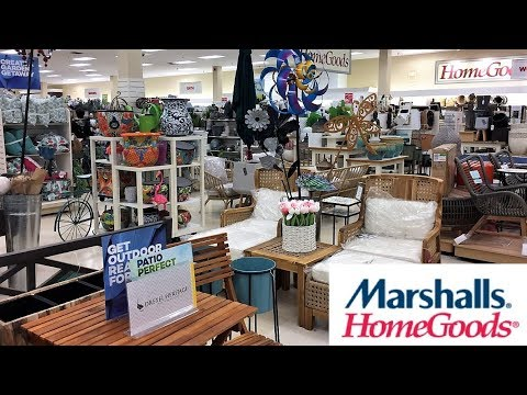 MARSHALLS HOME GOODS SUMMER OUTDOOR FURNITURE DECOR - SHOP WITH ME SHOPPING STORE WALK THROUGH 4K