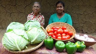 Download Cabbage Recipe by Grandma and Daughter ❤ Village Life Mp3 and Videos