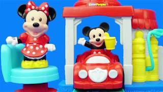 米奇妙妙屋布魯托修車鋪,米老鼠兒童過家家玩具
