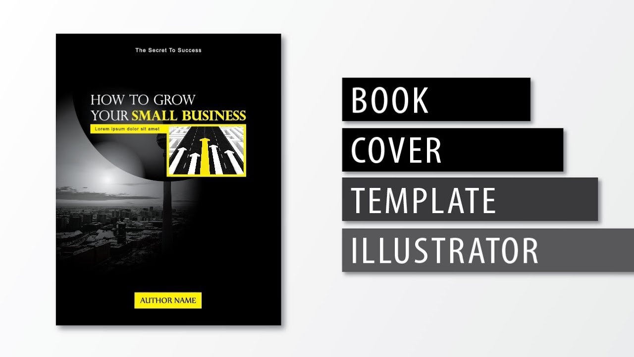 Book Cover Design Template Illustrator : Illustrator tutorial book cover template youtube