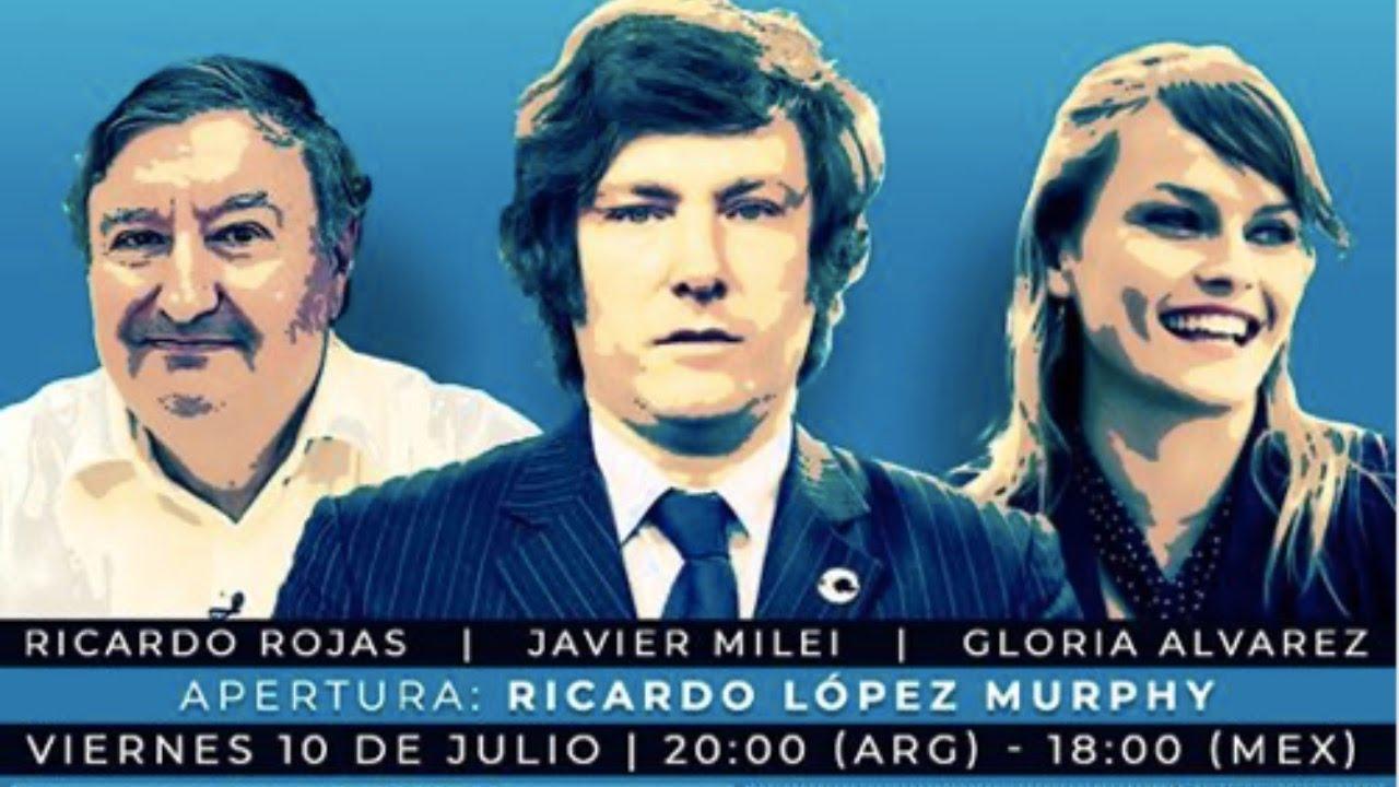 Gloria Alvarez Javier Milei Ricardo Rojas FORO SAO PAULO
