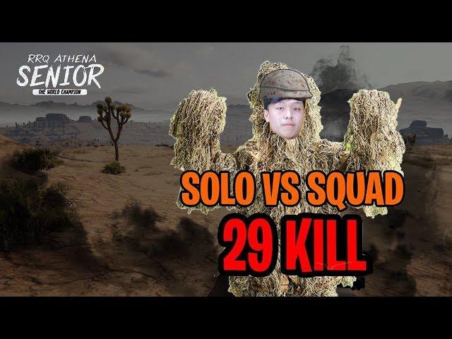 RRQ.SENIOR SOLO VS SQUAD[29KILLS]#PUBGMOBILE