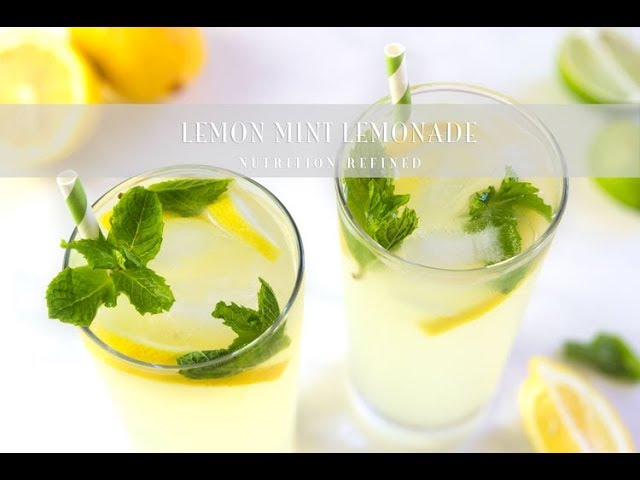 Lemon Mint Lemonade | Vegan, Paleo, Keto