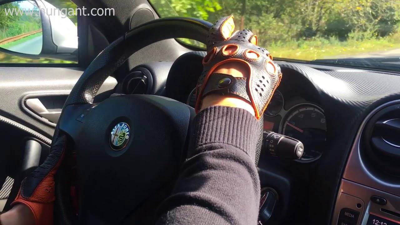 Hungant Driving Leather Gloves Wwwhungantcom YouTube - Alfa romeo driving gloves