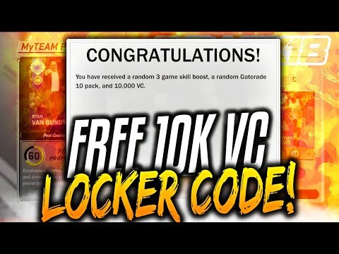 Free Vc Locker Codes Nba 2k18 Myteam Locker Code Pack Opening 2k18 Locker Code Youtube