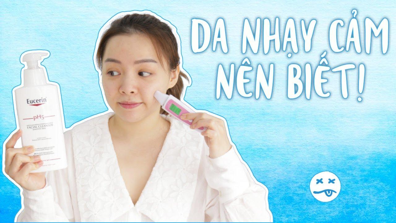 Da Nhạy Cảm Không Nên Dùng Thành Phần Gì? 😩 Đọc Thành Phần Eucerin Facial Cleanser PH5 ❤️ TrinhPham