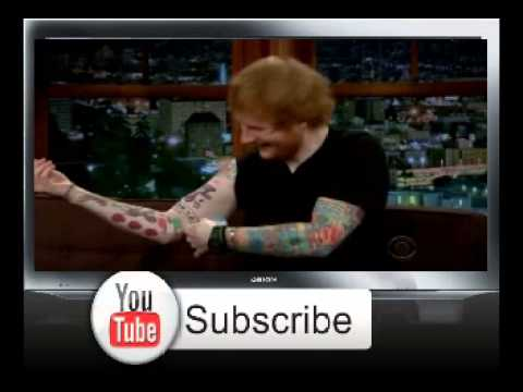 Ed Sheeran And John Mayer's Tattoo Reveal On Late Late Show