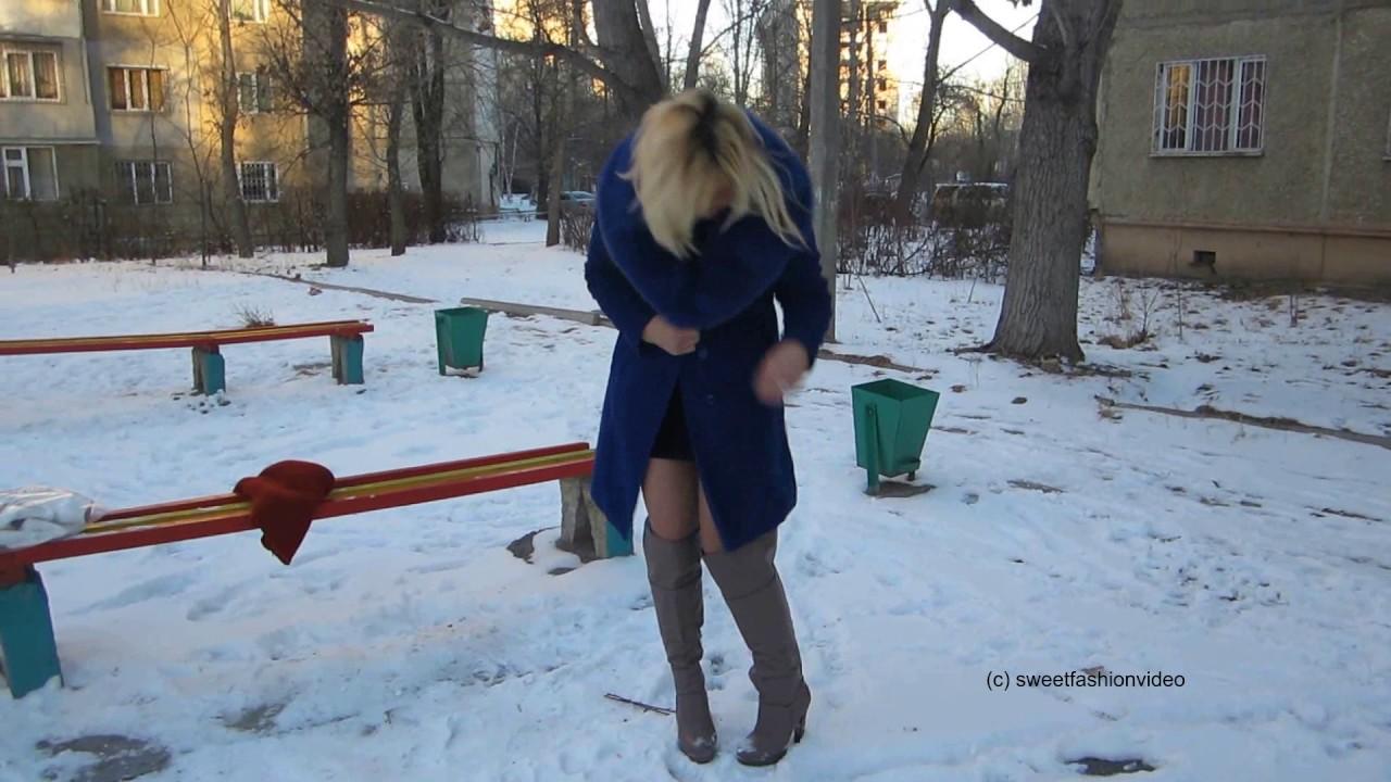 natalia mit overknee stiefel kleid im schnee boots dress in snow part i 0117 youtube. Black Bedroom Furniture Sets. Home Design Ideas