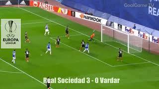 REAL SOCIEDAD VS VARDAR ALL GOALS 02 11 2017