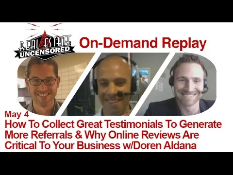 Real Estate Agent Marketing: How To Collect Great Testimonials To Generate More Referrals