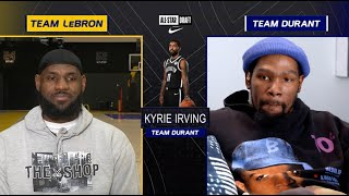 LeBron James & Kevin Durant Draft 2021 NBA All-Star Starters