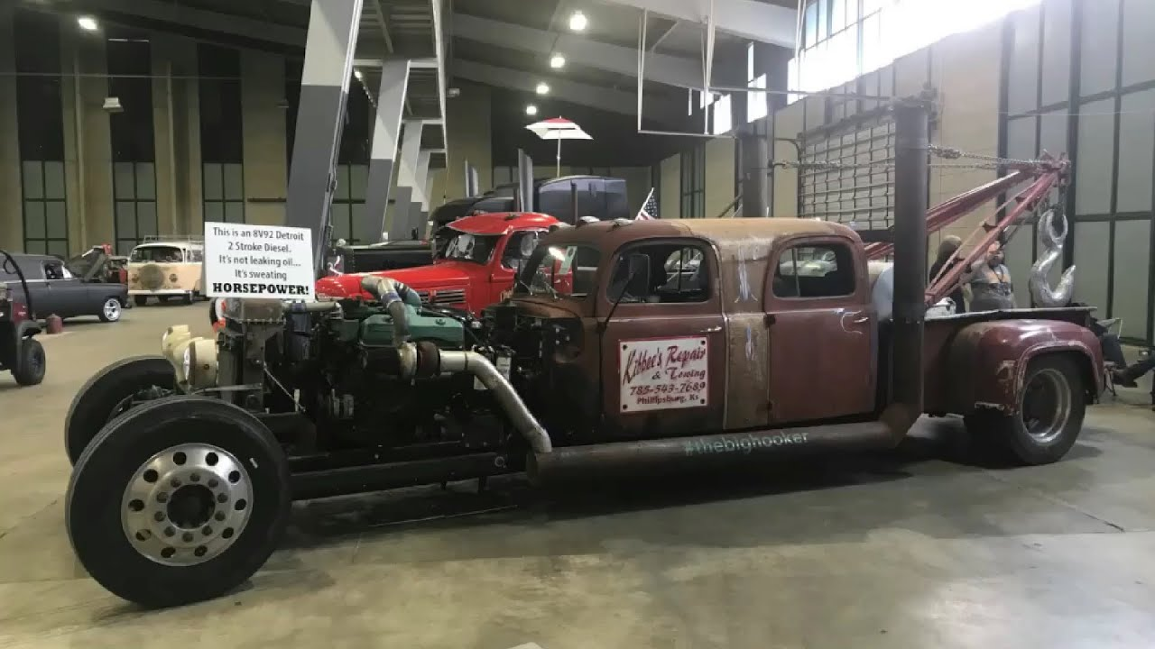 #TheBigHooker Detroit 8V92 2-Stroke Diesel Rat Rod Burnout