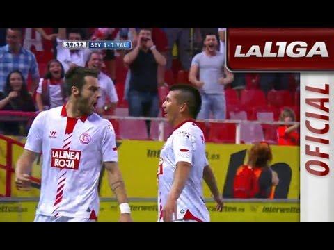 Gol de Álvaro Negredo (1-1) en el Sevilla FC - Valencia CF - HD