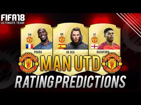 FIFA 18 Manchester United Player Ratings (Predictions) Ft. Pogba, Martial, Rashford, De Gea - FUT 18
