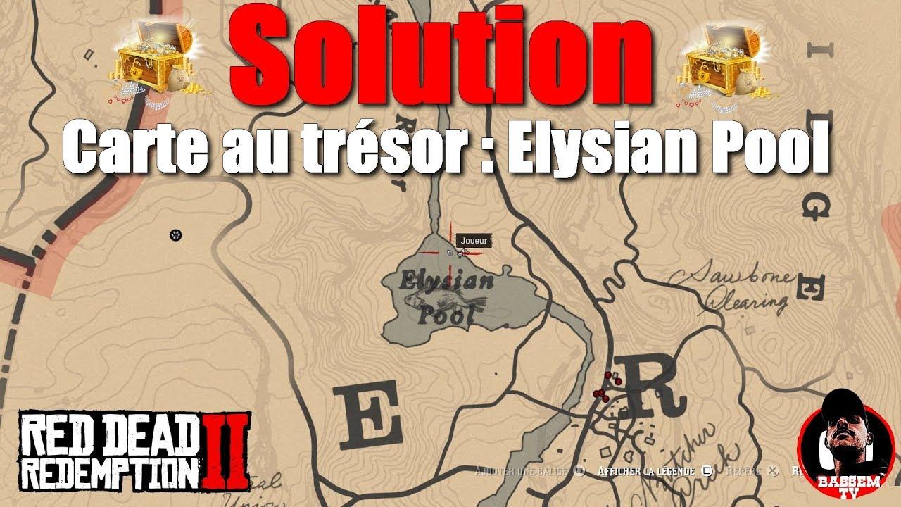 Carte Au Tresor Annesburg.Red Dead Redemption 2 Elysian Pool Treasure Map Solution