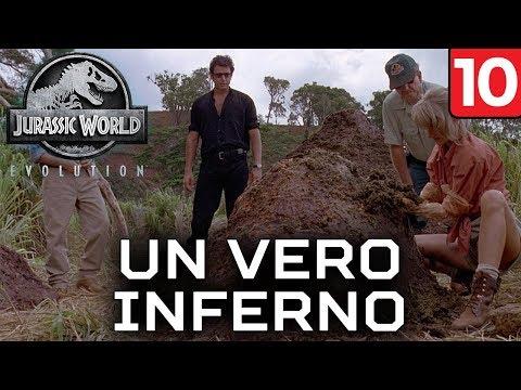 UN VERO INFERNO + PICCOLA ANTEPRIMA [#10] JURASSIC WORLD EVOLUTION Gameplay ITA