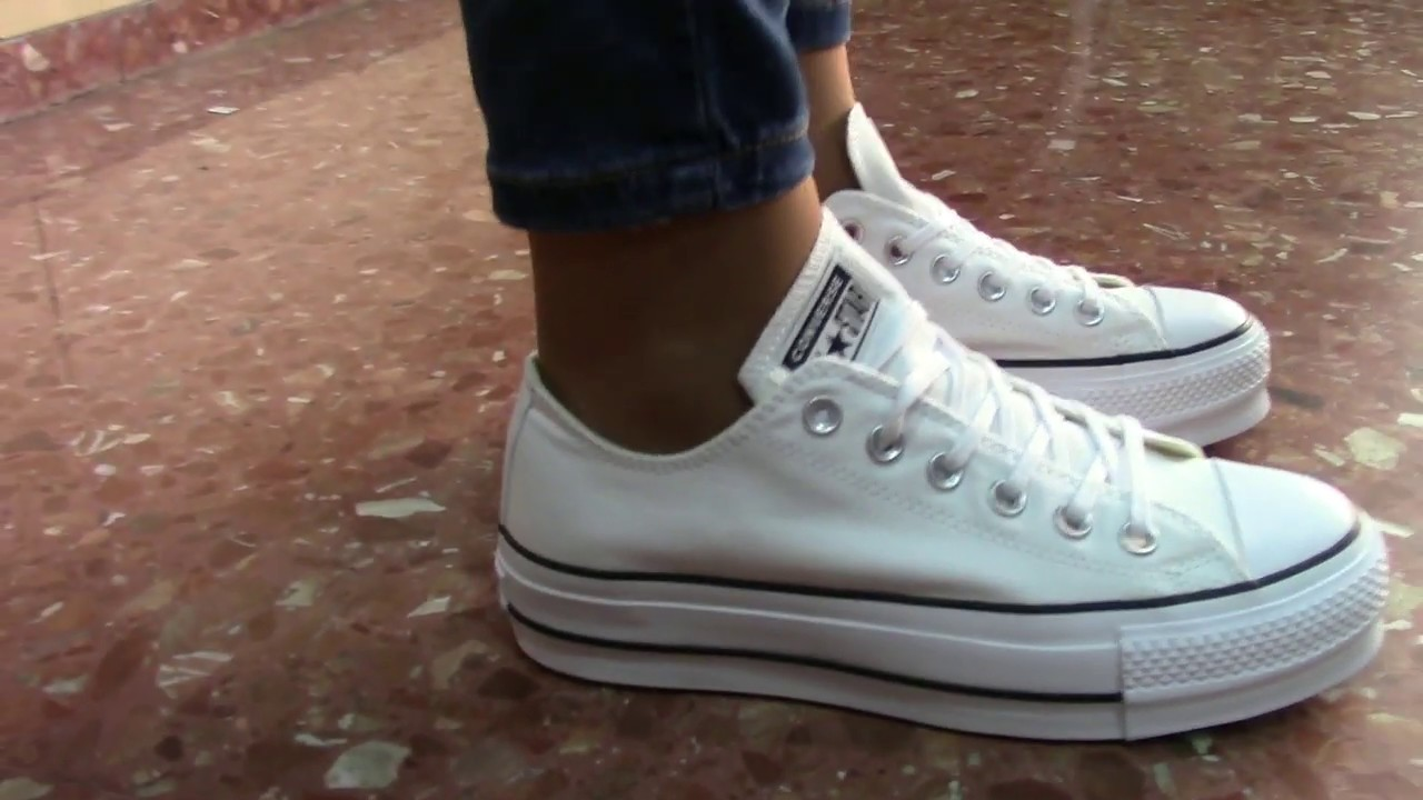 converse blanca mujer one star