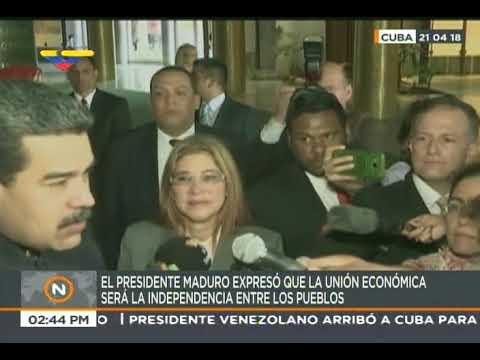Presidente Nicolás Maduro en Cuba, 21 abril 2018