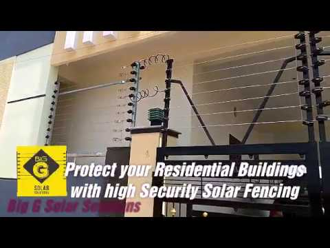 Solar electric fencing for home security in Hyderabad Call: 88855721888