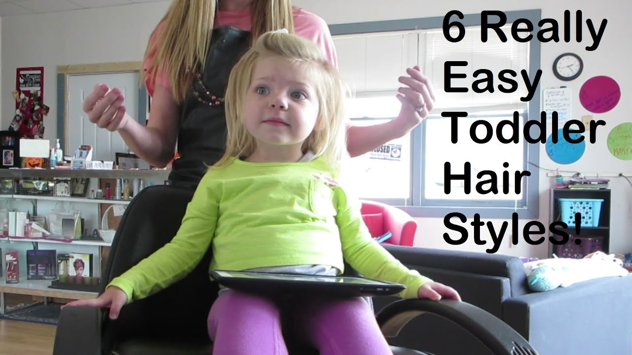 Toddler Hair Style: Easy Toddler HairStyles! #CarolinaStyleHairVideo